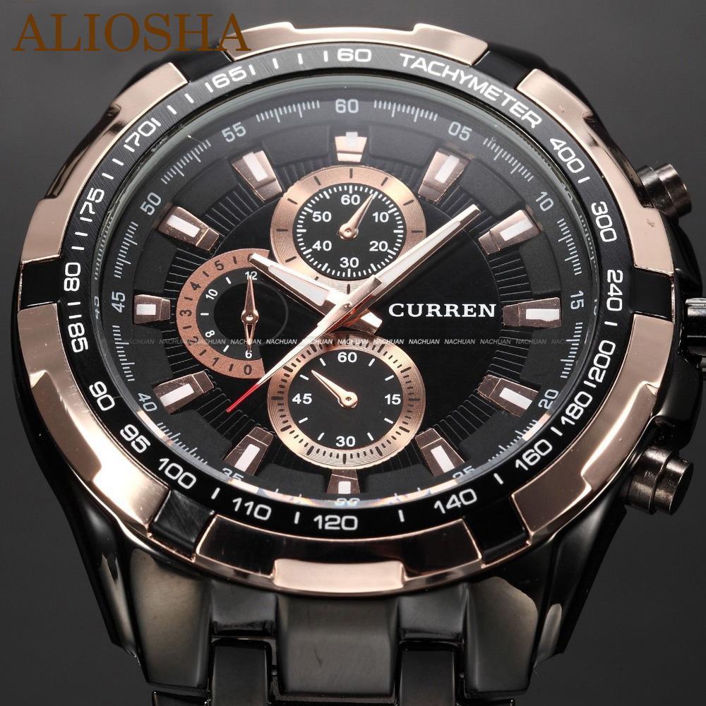 bcacf98e Мужские часы Curren Gold Black 8023. Скидка