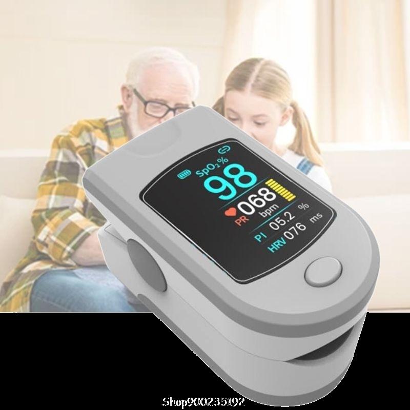 Пульсоксиметр 4 в 1 - мониторинг (уровеня кислорода в крови (SpO2), частоты сердечных сокращений (PR), вариабилитации сердечного ритма (HRV) и индекса перфузии (PI)